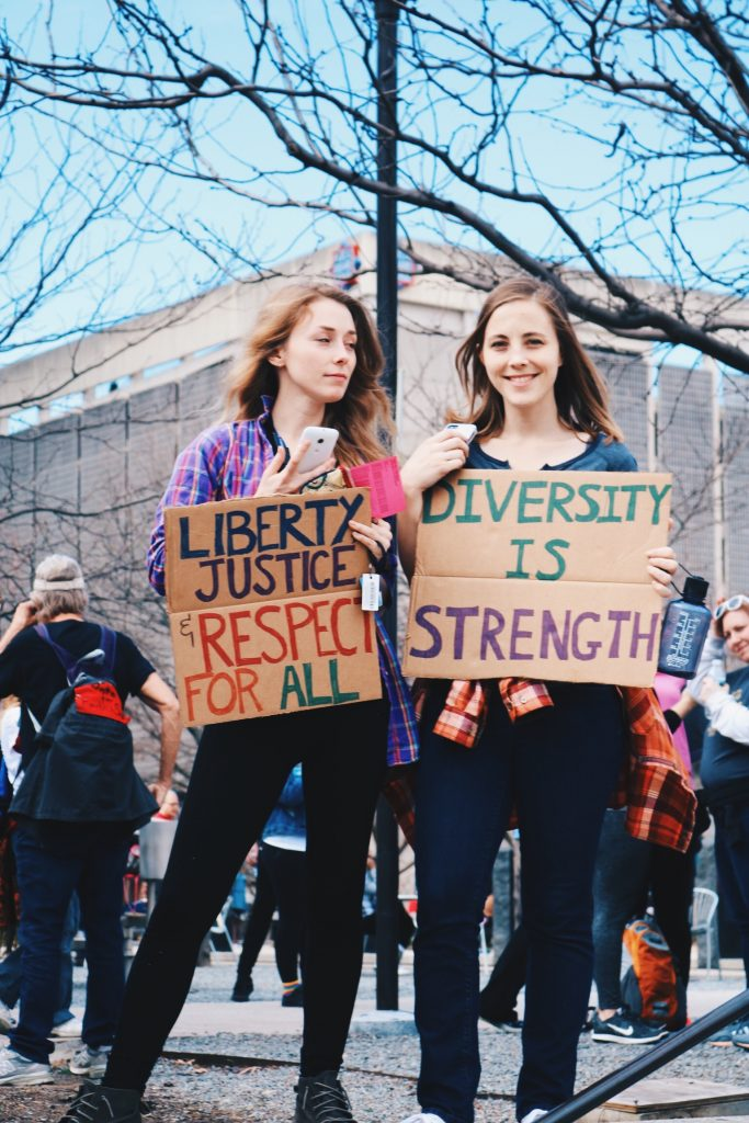 photo from the nashville women's march in January of 2017