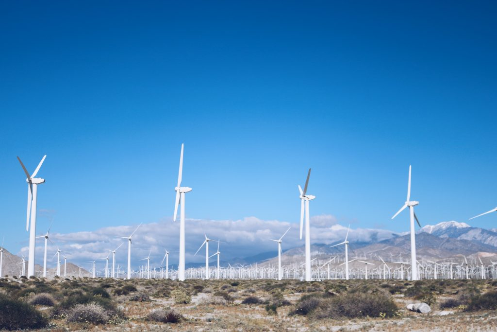photo of Palm Springs desert with windmills